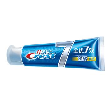 佳潔士牙膏,全優7效抗酸鎖鈣120g