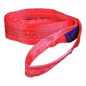 多來勁 扁吊帶,扁平吊環吊帶 5T×1m 紅色,0562 0002 01
