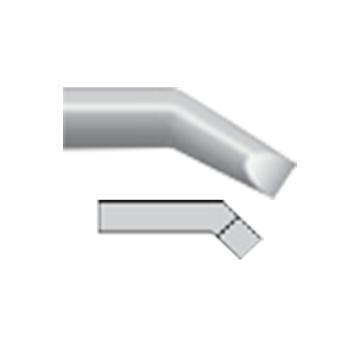 威乐Weller 烙铁头,凿形弯头,3x1mm,RTW 3MS 45°,T0054465899N