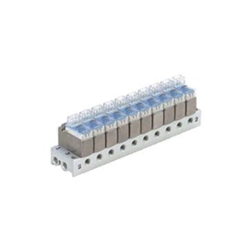SMC 3通电磁阀,集装式规格,S41型,适用于V100系列,VV100-S41-02-M5