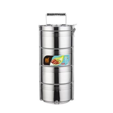 大容量多层保温饭盒304不锈钢,4层3.6L