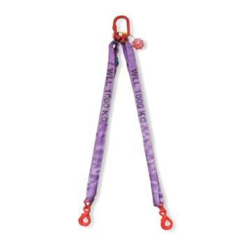 多来劲 双腿圆形吊装带组合吊具,1.4T×1m(总长)80级眼形自锁安全吊钩,0544 1402 01