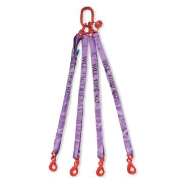 多来劲 四腿圆形吊装带组合吊具,8.4T×2m(总长)80级眼形自锁安全吊钩,0544 8404 02