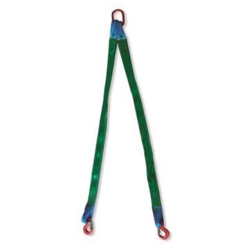 多來勁 雙腿扁平吊裝帶組合索具,1.4T×1m(總長) 80級眼形帶舌吊鉤,0515 2002 01
