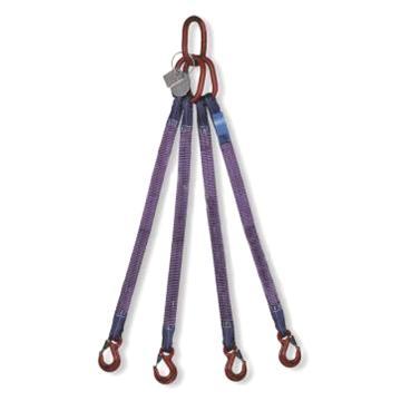 多来劲 四腿扁平吊装带组合索具,4.2T×3m(总长) 80级眼形带舌吊钩,0515 4004 03