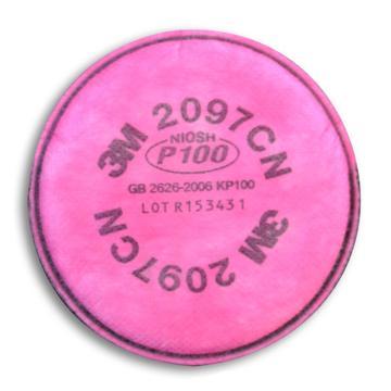3M 有机蒸气异味及颗粒物滤棉,2097CN,KP100/P100,2片/包