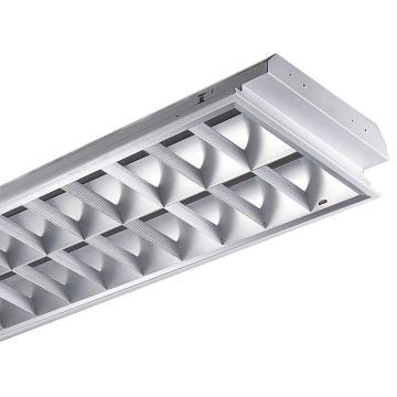 雷士 LED T8格栅灯 NDL412SIS/2X18W 不含灯管适配2根1.2米双端LEDT8,298x1198mm,2个/箱 单位箱