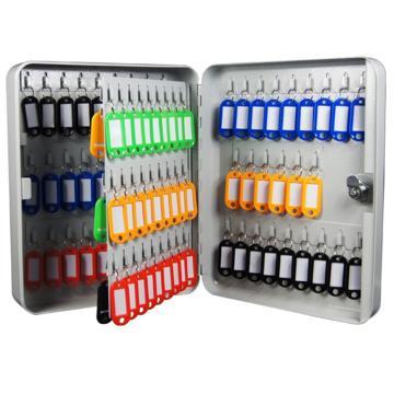 钥匙箱-93位,白色粉末喷涂钢板,300×240×80mm,15460