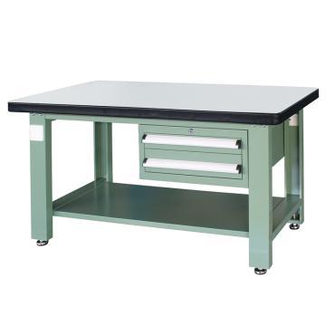 信高(xingo) 重型标准工作台,1500*750*800 绿色台面(防火板台面),XFK-1520D,不含安装费