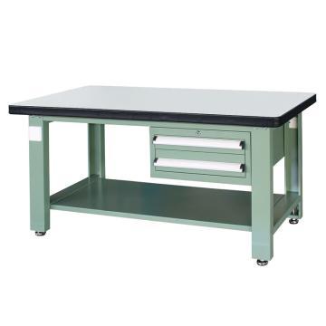 信高(xingo) 重型标准工作台,1800*750*800 绿色台面(防火板台面),XFK-1820D,不含安装费