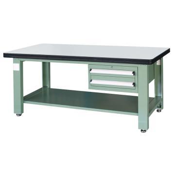 信高(xingo) 重型标准工作台,2100*750*800 绿色台面(防火板台面),XFK-2120D,不含安装费
