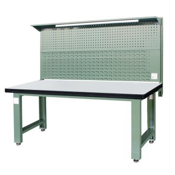 信高(xingo) 重型标准工作台,2100*750*800+936 绿色台面(防火板台面),XFK-2100G,不含安装费