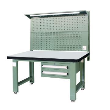 信高(xingo) 重型标准工作台,1500*750*800+936 绿色台面(防火板台面),XFK-1520G,不含安装费