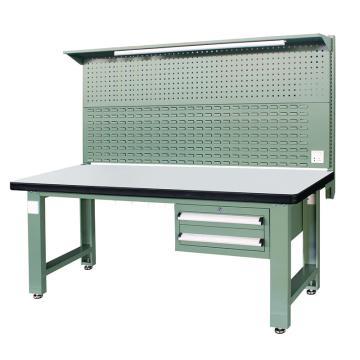 信高(xingo) 重型标准工作台,2100*750*800+936 绿色台面(防火板台面),XFK-2120G,不含安装费