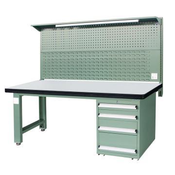 信高(xingo) 重型标准工作台,2100*750*800+936 绿色台面(防火板台面),XFK-2104G,不含安装费