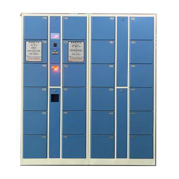实验室大尺寸24门条码存衣、存鞋2用柜,外型:H1800×W1700×D460mm,单格:H280XW300XD460mm