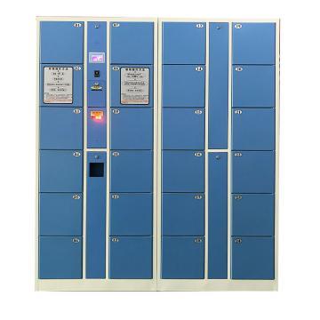 实验室24门条码存衣、存鞋2用柜,外型尺寸H1800×W2550×D460mm,单格尺寸:H407XW300XD450mm