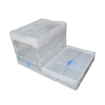 西域推薦 透明折疊周轉箱,全新料,尺寸:360*260*270mm,載重:10kg