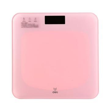 得力 体重秤(锂电款)(粉),86100,单位:个