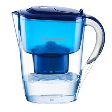 西屋(Westinghouse) 過濾凈水器, 家用濾水壺寶藍色 3.5L(1個濾芯裝)