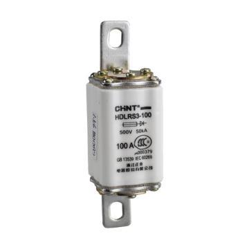 正泰CHINT HDLRS3(RS3)系列半导体器件保护用熔断器,HDLRS3-100 100A
