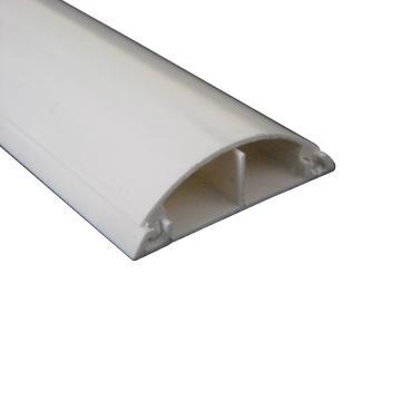 西域推荐 PVC材质带背胶半圆地线槽,PVC(6*100CM)