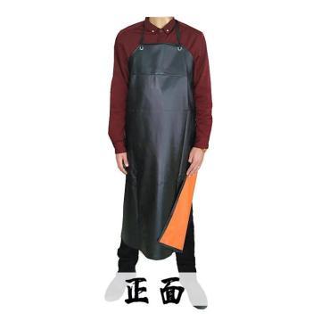 西域推荐 复合PVC防化围裙,黑色