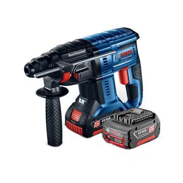 博世BOSCH 18V锂电充电式锤钻,一电一充,5.0Ah电池,GBH 180,0611911087