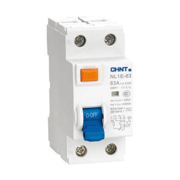 正泰CHINT 微型剩余电流保护断路器 NL1E-63 1P+N 40A 30mA AC 单漏电保护
