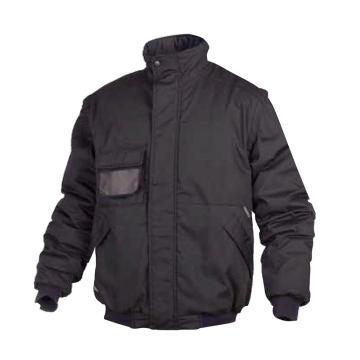 代尔塔DELTAPLUS 防寒服,405417-XS,MEDEO 经济款 竖领袖口可拆卸 黑色