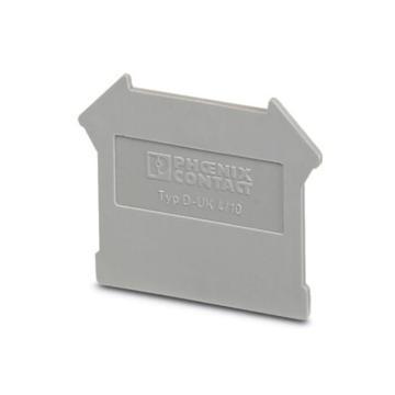 菲尼克斯PHOENIX 接线端子端板,3003020 D-UK4/10,50个/包