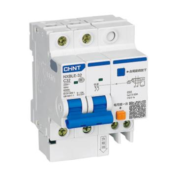 正泰CHINT 微型剩余电流保护断路器 NXBLE-32H 2P 32A C型 30mA AC