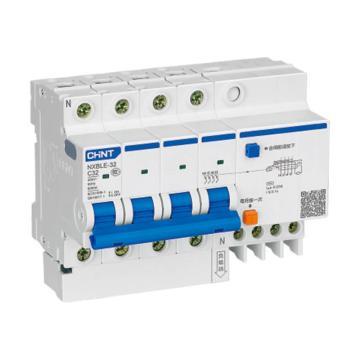 正泰CHINT 微型剩余电流保护断路器 NXBLE-32 4P 10A B型 100mA AC