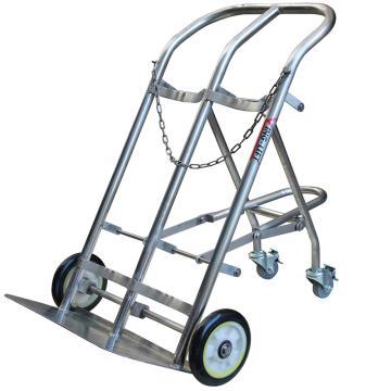 虎力 双气瓶推车,载重:200kg 201不锈钢材质 适合气瓶直径140-300mm,AD20A