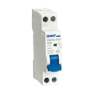 正泰CHNT 微型断路器 NBH8-40 1P+N 40A C型 紧凑型18mm