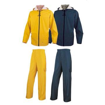 代尔塔DELTAPLUS 分体式雨衣,407008-BM-XXL,EN850 藏青色