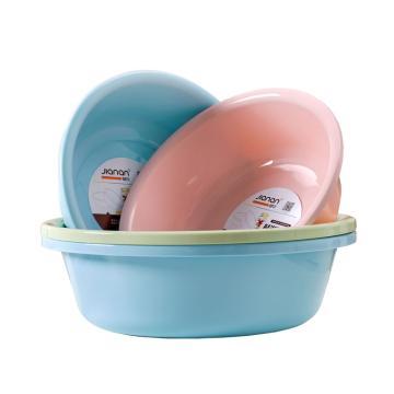 健安40cm歐式盆塑料盆,洗臉盆 0301 40x40x12cm 50個/箱 單位:個