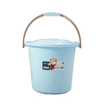 健安36cm提桶帶蓋,藍色2827-A 36cmx36cmx33cm 20個/箱 單位:個