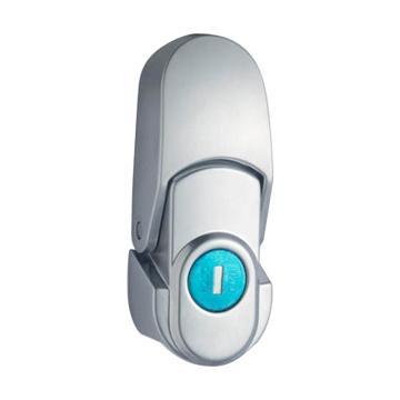 恒珠 搭扣锁,DKS-1-1,有锁芯,亮铬