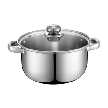 德鉑Debo 弗倫斯堡不銹鋼湯鍋,燉鍋奶鍋小火鍋20cm電磁爐通用DEP-179