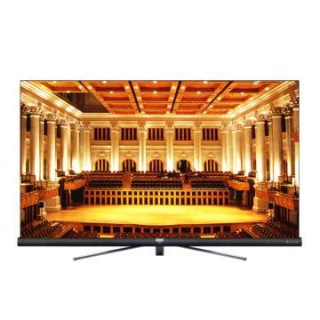 TCL液晶電視,55C6 55英寸 64位34核人工智能哈曼卡頓音響 4K全面屏平面電視(槍色)
