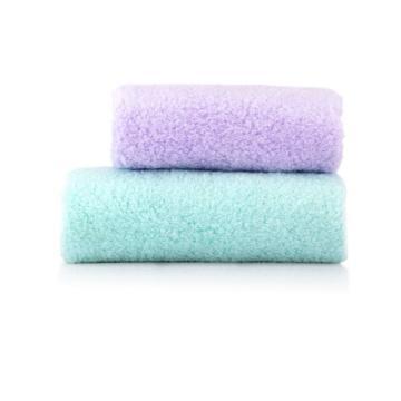 内野 轻柔棉花糖方面巾礼盒,JD29012-N 绿色+紫色