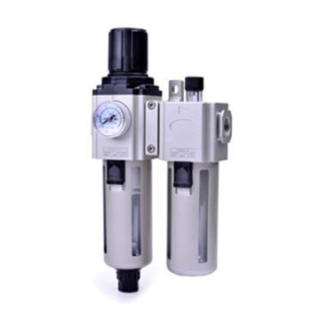亞德客AirTAC 氣源處理二聯件,手動排水,GAFC600C-20-S