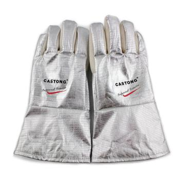 卡司顿 隔热手套,NFRR15-34,300°5指手背铝箔耐高温手套
