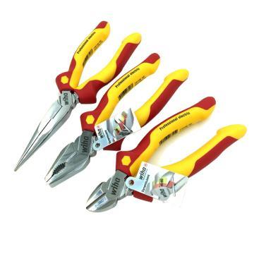 威汉Wiha 电工绝缘专业钳子套装,3件套,Z99000106,26852