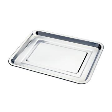 西域推荐 201不锈钢方盘,长方形托盘餐盘,商用烧烤盘 浅盘32x22x2cm