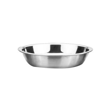 西域推荐 304不锈钢盘子,圆盘菜盘餐盘菜小碟子 特厚 14cm 304不锈钢浅圆盘 上径15.2cm 高度3cm