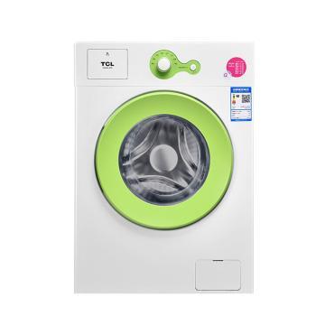 TCL全自动滚筒洗衣机,TG-V65 芭蕾白 , 6.5公斤上排水 中途添衣 一键脱水 (青春版)