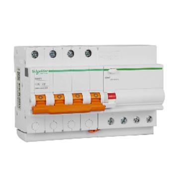 施耐德Schneider Easy9微型漏电保护断路器 4P C20A/30mA/AC,EA9RN4C2030CNEW