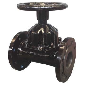 远大阀门 铸钢法兰直通隔膜阀,G46J-10C,DN200,WCB体,45#轴,内衬EPDM
